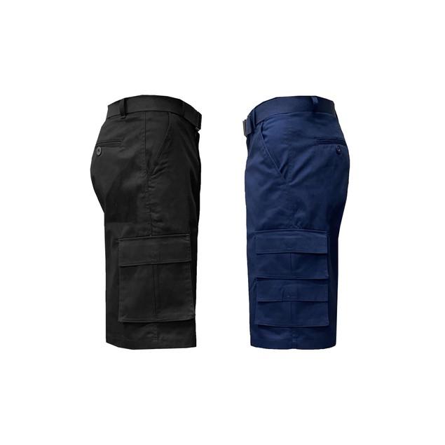 2-Pack Men's Fit 7-Pocket Cargo Shorts with Belt (Sizes 32-40)