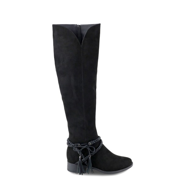 Olivia Miller 'Babylon' Multi Braided Strap Over the Knee Boots