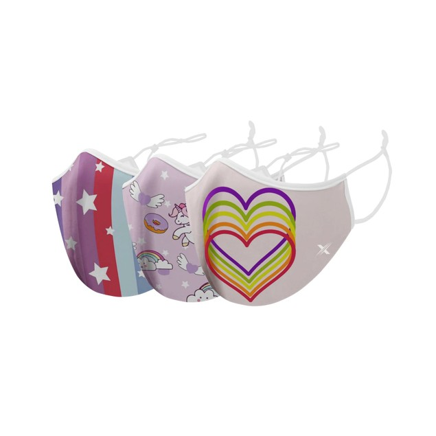 Two-Layer Reusable Kids Face Mask with Adjustable Earloop (3-Pack)