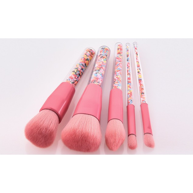 5-Piece : Candy Floss Power Makeup Brushes