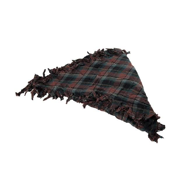 Brown Plaid Triangular Reversible Neck Scarf Womens Fashion Scarves