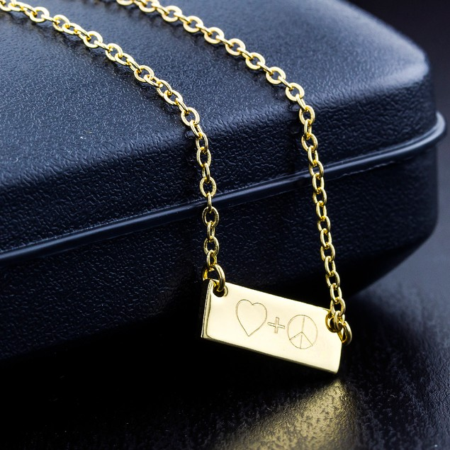 Personalized Fancy Bar Necklace