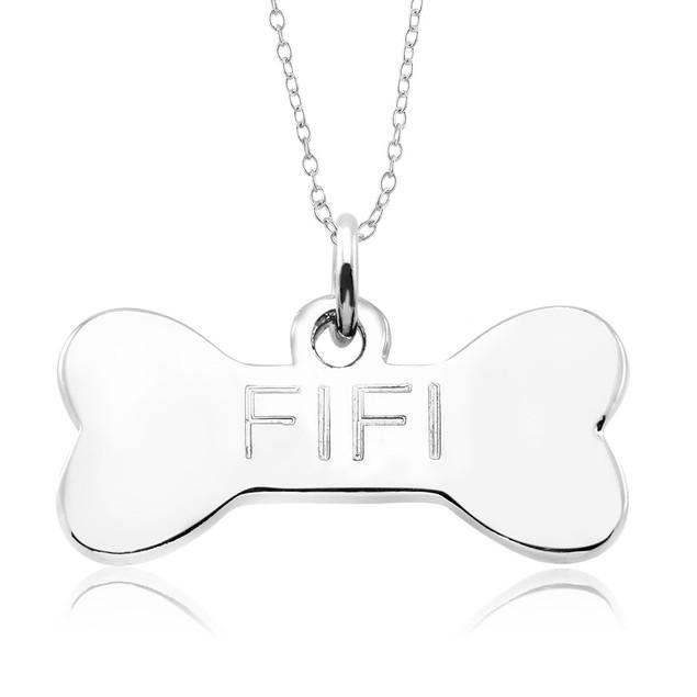 Personalized Dog Bone Pendant Necklace