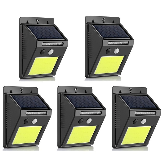 5-Pack Outdoor 48 LED Solar Light with Wireless Waterproof Motion Sensor