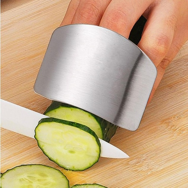 Stainless Steel Finger Protector for Cutting, Chopping, and Dicing