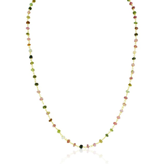 18 Carat Tourmaline Strand Necklace- 24 Inches