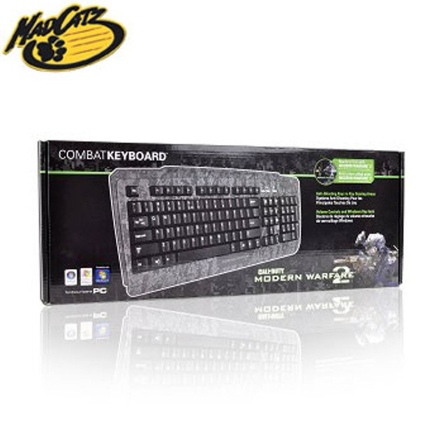 Mad Catz 104-Key USB Gaming Keyboard for PC w/Anti-Ghosting Keys