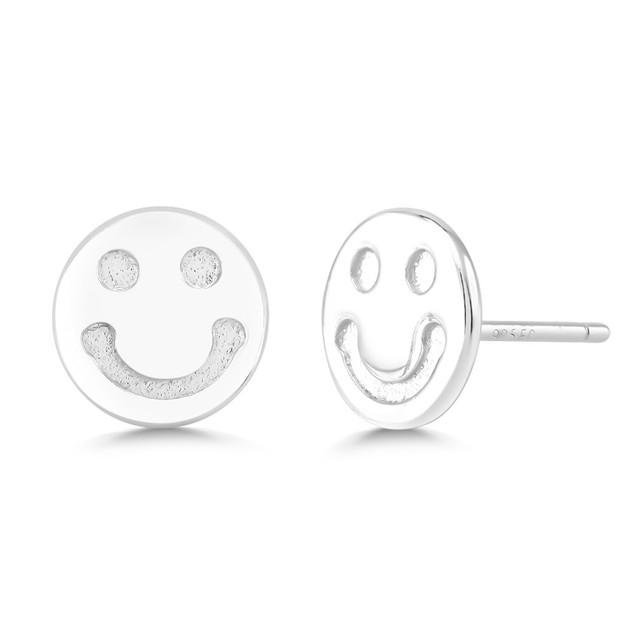Sterling Silver Smiley Earrings