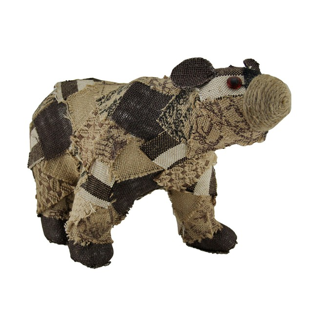 Patches The Recycled Burlap Bear Decorative Statue Statues