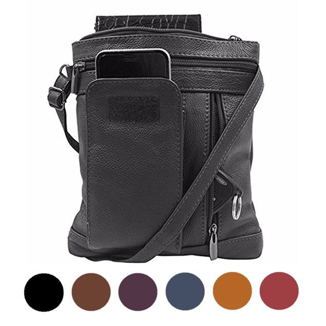 Soft Premium Leather Crossbody Bag for Women - 6 Colors