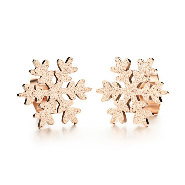 Crystal Sparkle Snowflake Earrings