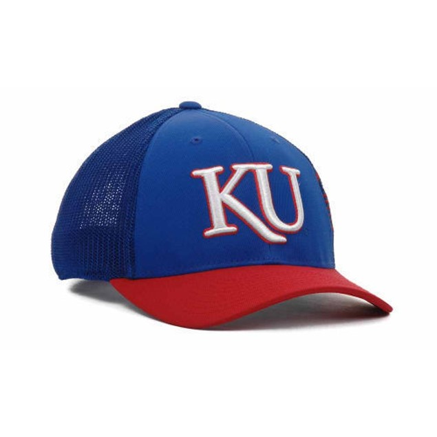 "Kansas Jayhawks NCAA Adidas ""Tre Foil"" Stretch Fitted Hat"