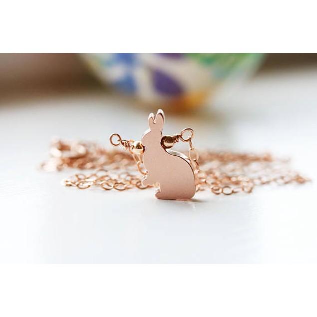 Rabbit Drop 18kt Necklace