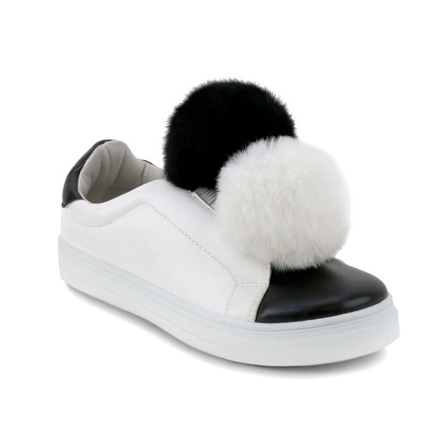 Olivia Miller 'Baywood' Double Pom Pom Two Tone Sneakers