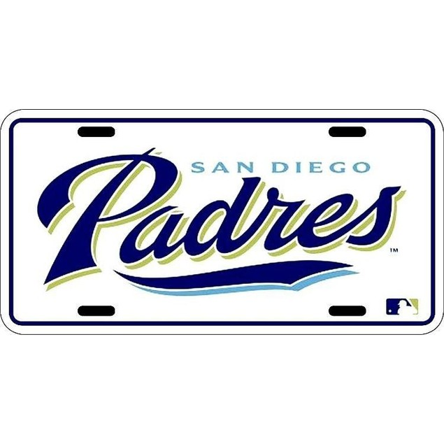 San Diego Padres MLB License Plate