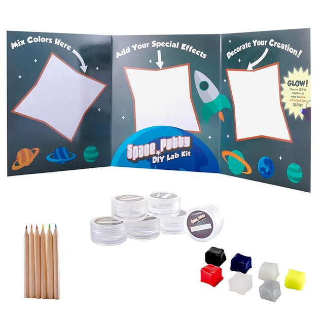 Space Putty DIY Lab Kit w/ Free UV Keychain