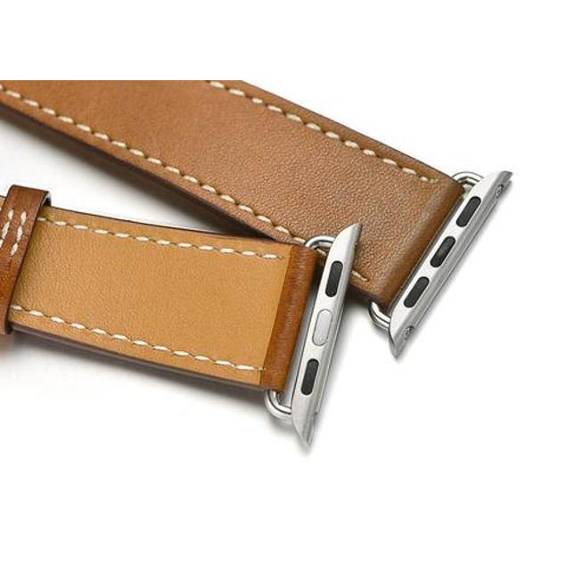 iPM Genuine Leather Double Wrap Replacement Watch Band
