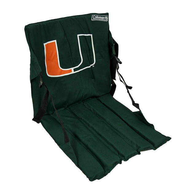 Miami Hurricanes Cushioned Roll Up Stadium Seat Sports Fan Folding Chairs