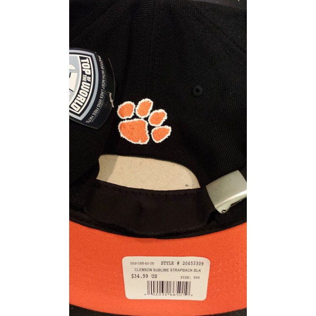 """Clemson Tigers NCAA TOW """"Sublime"""" Strapback Hat"""