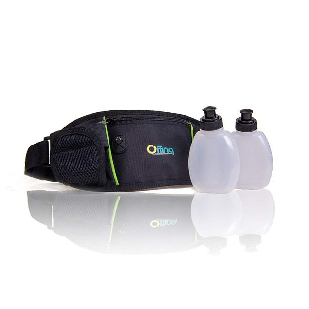 2-Pack Hydration Running Belt Pouch w/ Zippered Compartments