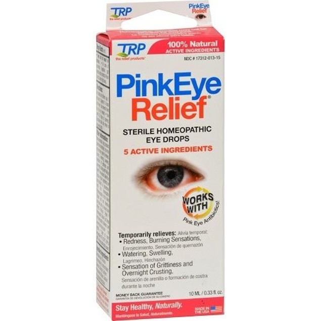 TRP Pink Eye Relief Sterile Homeopathic Eye Drops