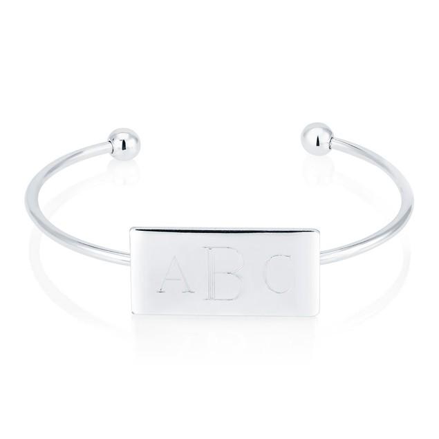 Personalized Monogram Cuff Bracelet - 3 Colors