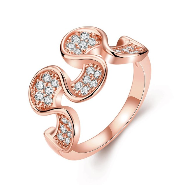 Rose Gold Plated Harp Shaped Ring