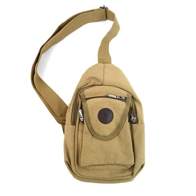 Crossbody Canvas Sling Bag Backpack with Adjustable Strap
