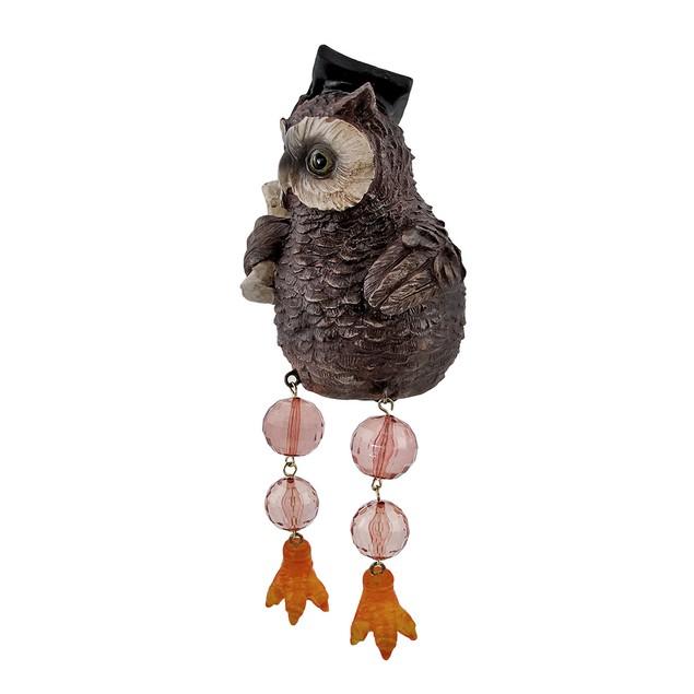 Owl Graduate Dangler Shelf Sitter With Jointed Shelf Sitters