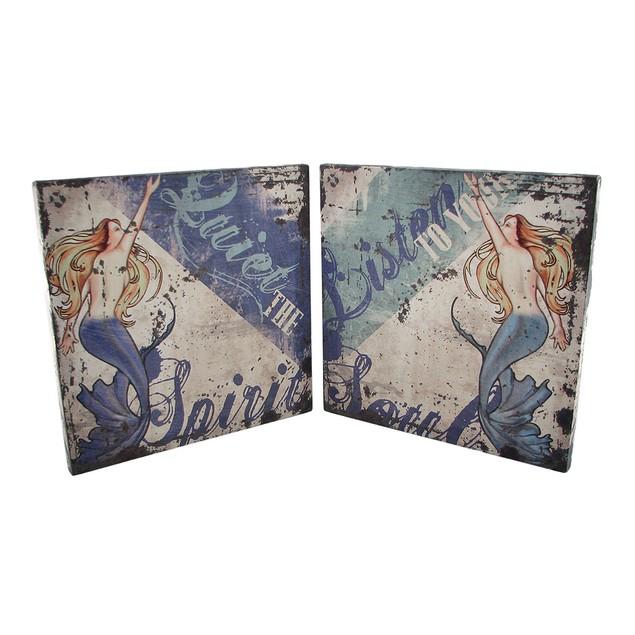 Pair Of Inspirational Mermaid Canvas Art Prints 12 Prints