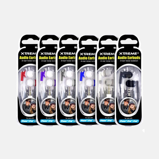Free 2-Pack Xtreme Stereo Audio Earbuds