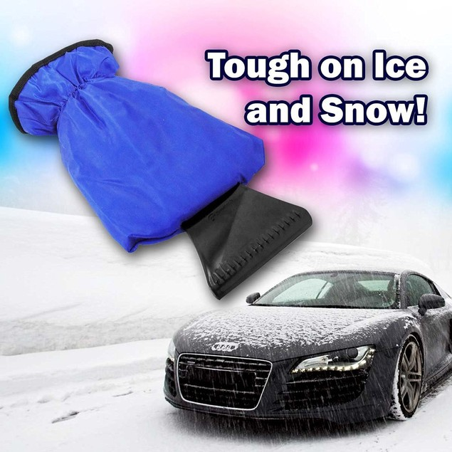 Zone Tech Waterproof Windshield Ice and Snow Scraper Glove