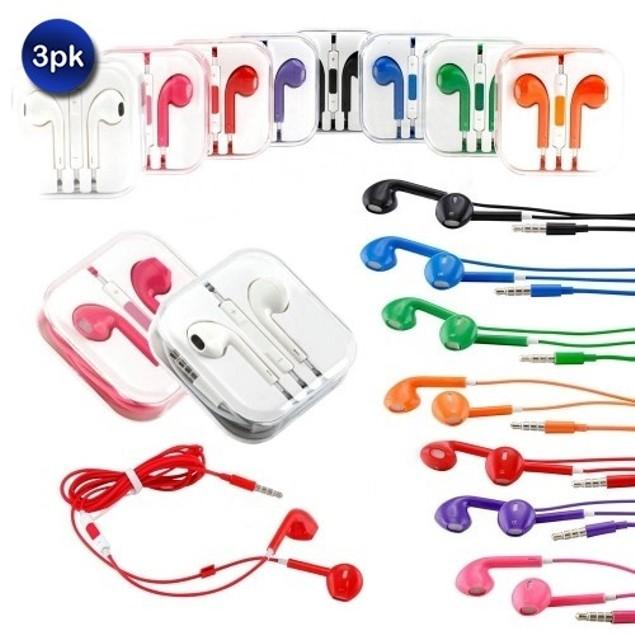 3-Pack Earphones