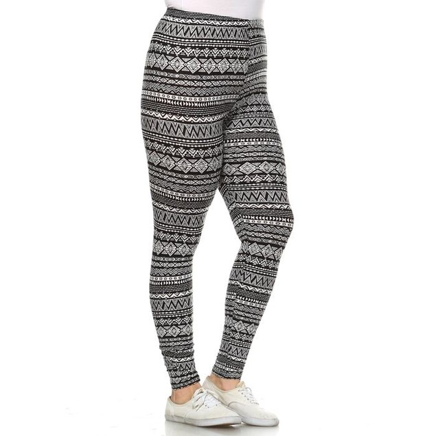 Plus Size Printed Winter Leggings