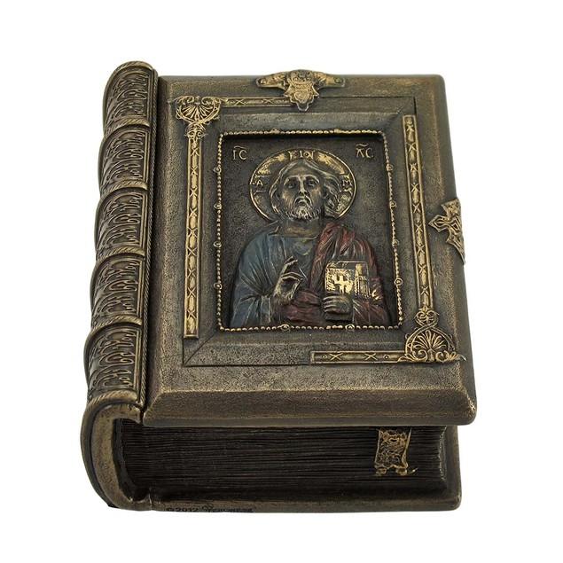 Christ Pantocrator Book Shaped Trinket Box Decorative Boxes