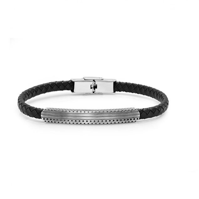 Men's Bracelet with Stainless Steel Accents - 3 Styles