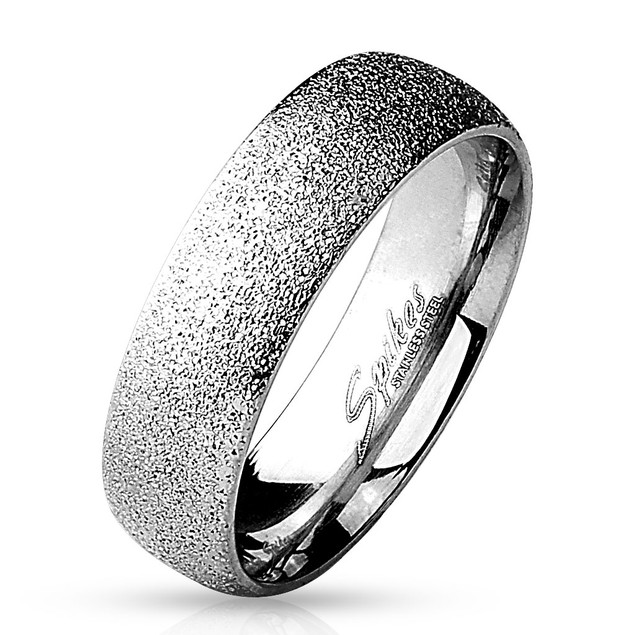 Men's 8mm Sand Blasted Stainless Steel Ring