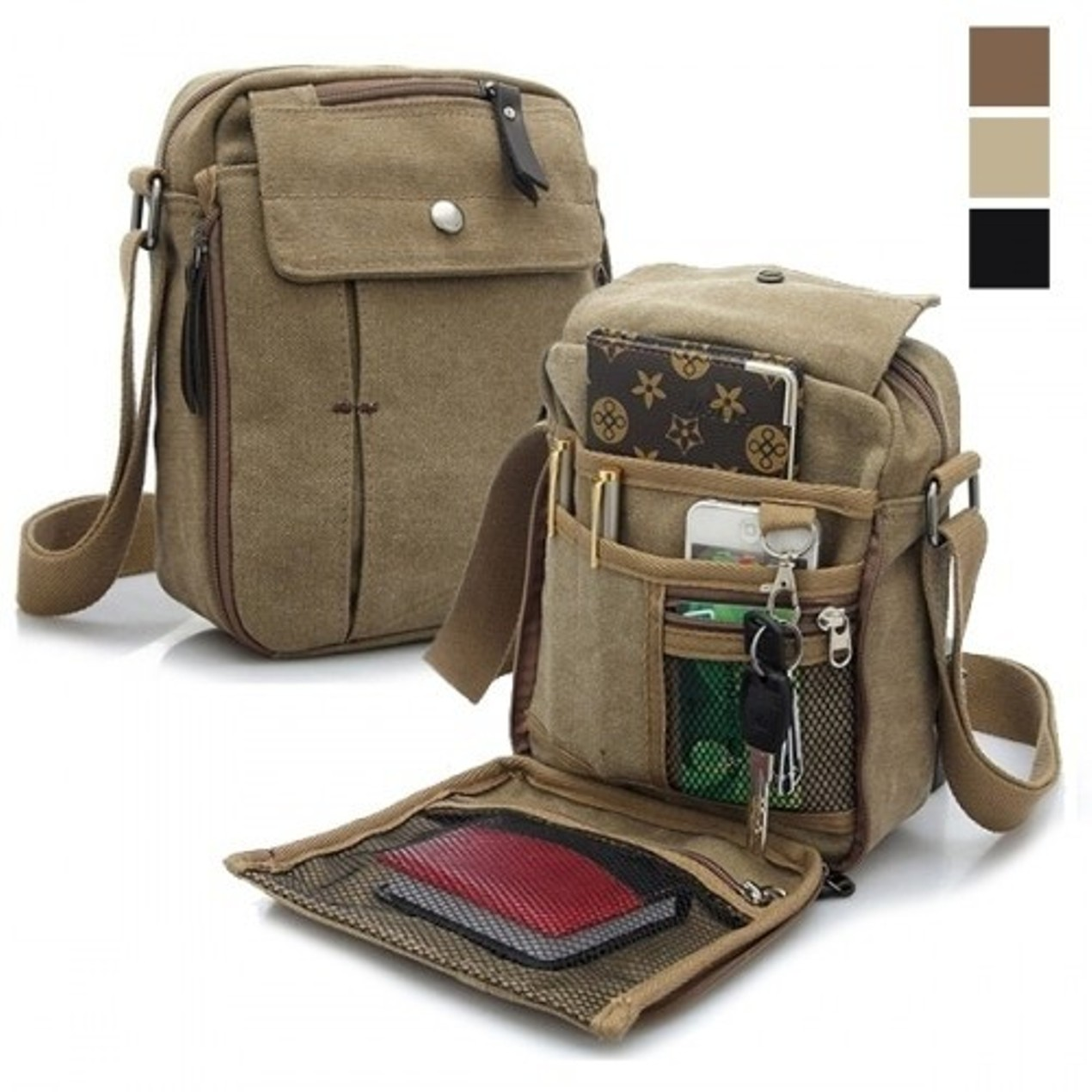 94002df1c1 Valencia Multifunctional Canvas Traveling Bag - 3 Colors - Tanga