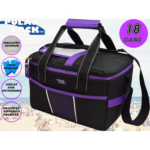 Polar Pack 18 Can Insulated Double Handle Collapsible Cooler