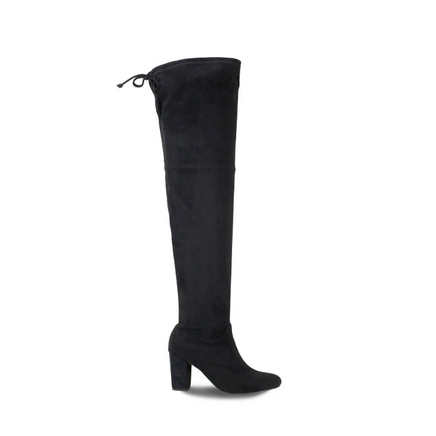 Olivia Miller 'Westbury' Top Back Tie Chunky Heel Over the Knee Boots