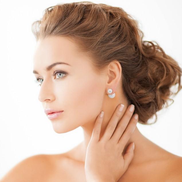 Double-Sided Imitation Pearl Stud Earrings