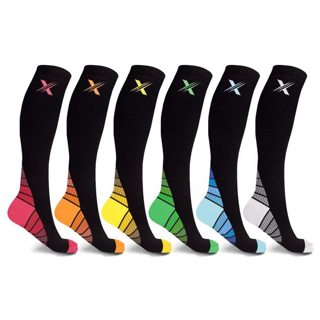 6-Pairs: Unisex Premium Compression Socks