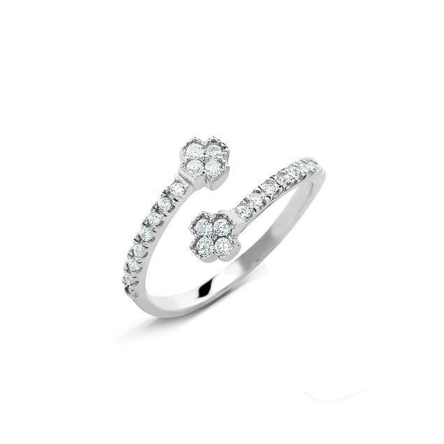 Sterling Silver Cubic Zirconia Midi Rings - 7 Styles