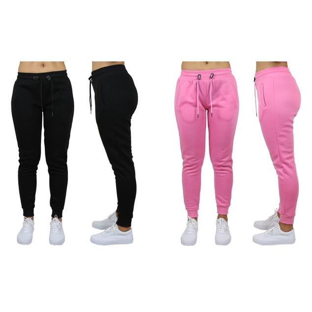 2-Pack Womens Classic Fleece Jogger Sweatpants (Sizes, S-3XL)