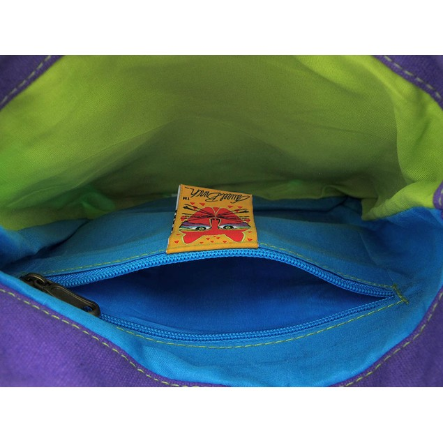 Laurel Burch Mythical Dogs Cross Body Bag Womens Cross Body Bags