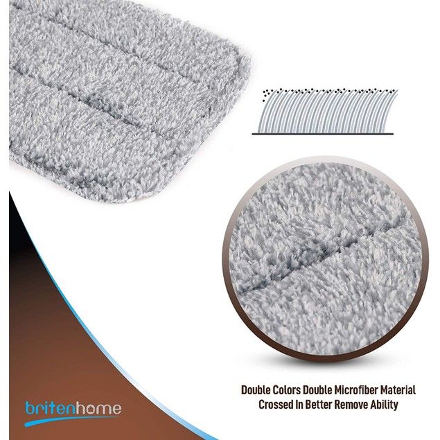 Britenway Microfiber Mop Pads [3-Pack],