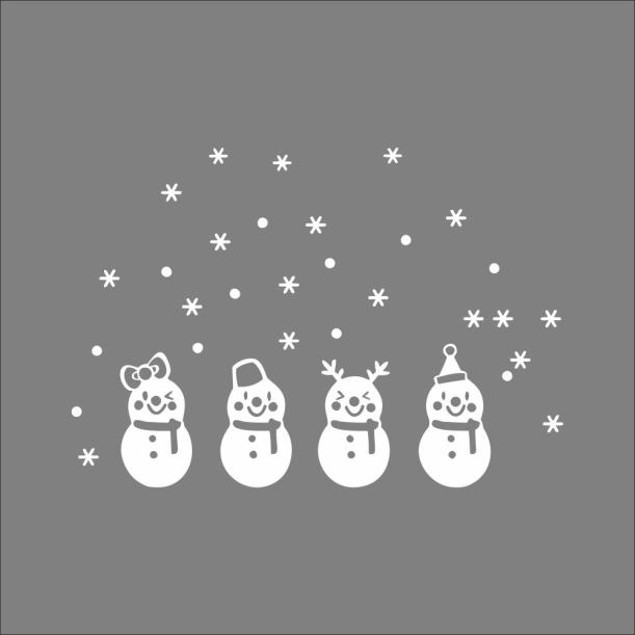 Christmas Snow Ball Removable Home Vinyl Wall Stickers Decal