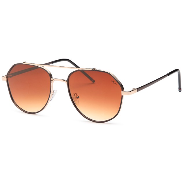 Double Bridge Inspired Brown Fashion Sunglasses