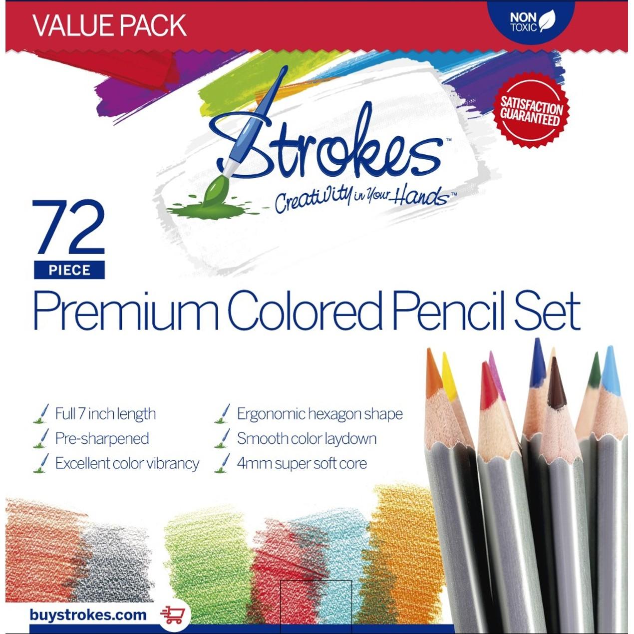 72 Piece Strokes Art Premium 40 Mm Soft Japanese Core Colored - Premium-color-pencils