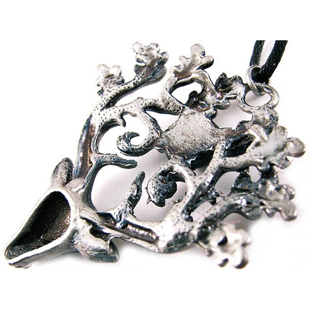 `The Stag Lord` Solid Pewter Pendant Forest Buck Mens Pendant Necklaces